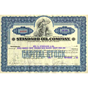 1928 Standard Oil Co Stock Certificate
