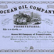 18__ Ocean Oil of Pennsylvania Stock Certificate