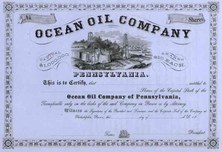 18__ Ocean Oil of Pennsylvania Stock Certificate
