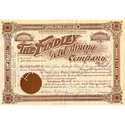 1900 Findley Gold Mining Stock Certificate -- Cripple Creek