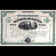 18__ Richmond & Danville RR Stock