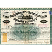 1871 Cincinnati & Springfield RR Bond with RN-W2 Revenue