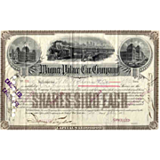 1888 Wagner Palace Car Stock Certificate
