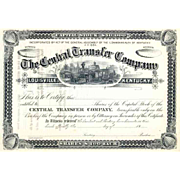 18__ Central Transfer Co Stock Certificate