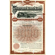 1890 Utica & Black River RR Bond