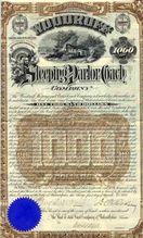 1888 Woodruff Sleeping & Parlor Coach Bond Certificate (Scripophily)