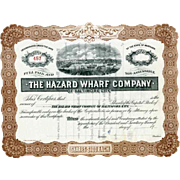19__ Hazard Wharf Stock Certificate (Baltimore, MD)