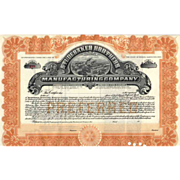 19__ Studebaker Brothers Manufacturing Co Stock Certificate