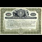 1916 Reo Motor Car Co Stock Certificate