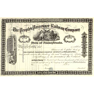 18__ People's Passenger RW Stock Certificate