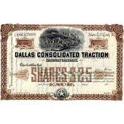189_ Dallas Consolidated Traction RW Stock