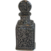 Antique  Silver Scent Bottle, Turkish Ottoman Empire , Circa 1900