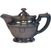 Vintage Hotel  Silver Teapot From The MEDINAH ATHLETIC CLUB