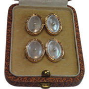 Vintage Cufflinks ; 14K , Mother Of Pearl & Natural Pearls ,  Larter & Sons