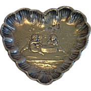 Sale Pending , ......Heart Shaped Sterling Pin Dish