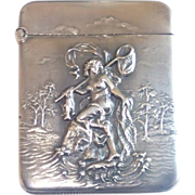 Sterling Silver Figural Match Safe , American C. 1900