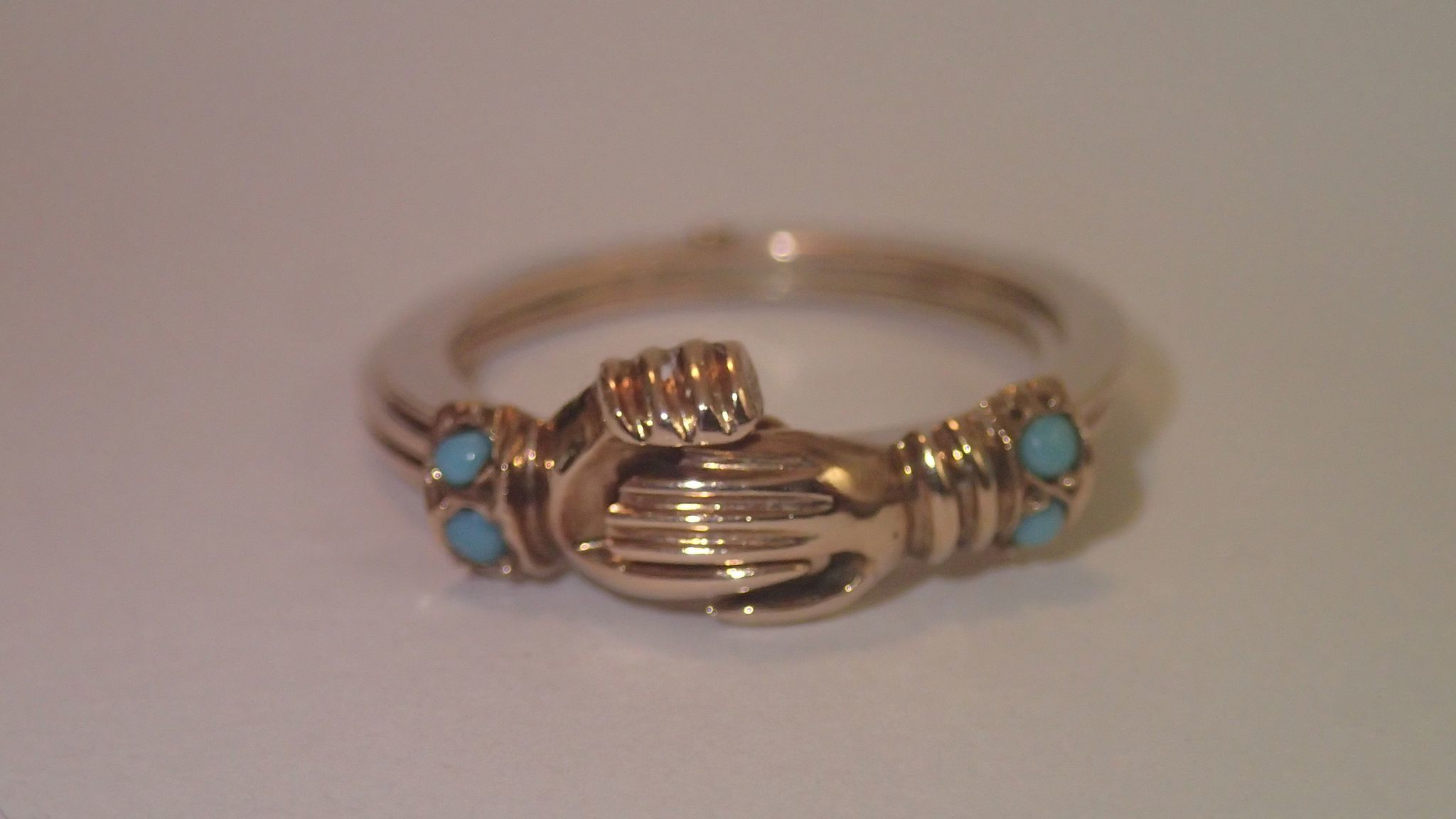 gimmel fede ring 14k gold quot turquoise
