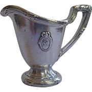 Hotel Silver Creamer From The St. Regis Hotel , Circa 1910