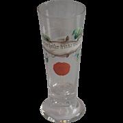 Vintage Crystal  Pilsner Beer  Glass With Hand Enameled Decoration