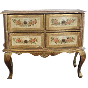On Hold For A M H ......Vintage Miniature  Italian Chest , Hand Painted Mid 20th Century