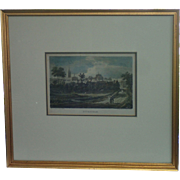 Antique  Framed  Engraving By T. Storer, Early 19th Century
