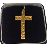 Antique Cross Pendant 15CT. ,  English Circa 1910