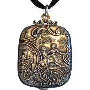 Antique French Silver Slip Locket