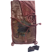 On Hold For NG ......Antique Silk  Chocolate Bag From Place De L' Opera , Paris France