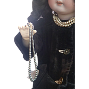 """Doll Necklace ; Sterling Beads 9 & 3/4"""" Long, Circa 1910"""