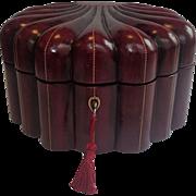 Leather Jewel Box, Vintage Italian Mid 20th Century