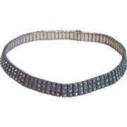 Authentic Art Deco Sterling & Rhinestone Choker