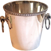 French Silverplate Champagne Split Bucket