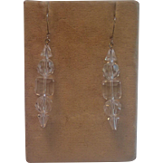 Vintage Crystal Earrings With Sterling Wires