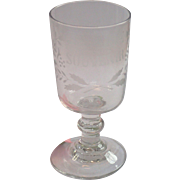 Reserved for K B ...... French Souvenir Goblet , Circa 1890