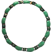 David Andersen Necklace, Sterling & Enamel