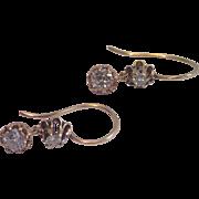 Antique Diamond Earrings In 14K, ... 1.20 Points TDW ...  1 & 1/5 CTS !