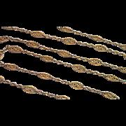 """Antique  Guard Chain , 18K,  44"""" Long & 19.0 Grams"""