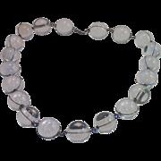 Sale Pending For L N ......Pools Of Light Necklace , Quartz Rock Crystal & Sterling Silver