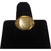 Antique Signet Ring , 19.2K , European Late 19th Century