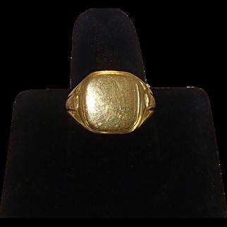 Antique Signet Ring , 19.2K , European Late 19th Century