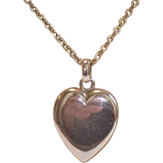 Antique 14K Heart Locket & Chain