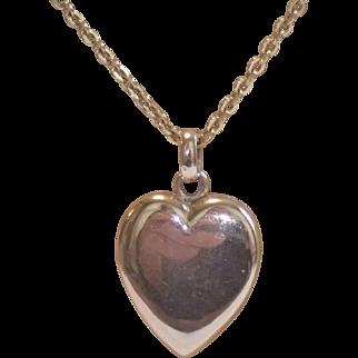 Antique 14K Heart Locket & Chain
