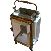 Jewel Casket , Glass & Brass, French,  C. 1890