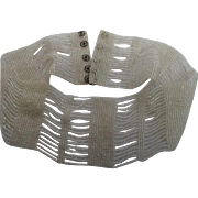French Glass Beaded Collar, ...... New Old Stock , C.1910