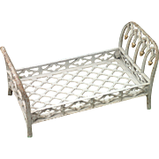 Antique French Cast Iron Doll Bed