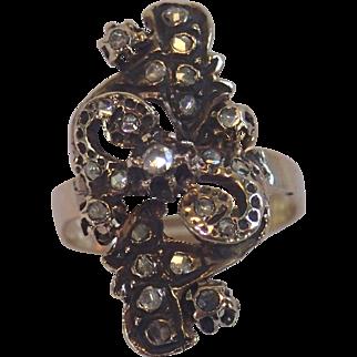 Antique Georgian Rose-Cut Diamond Ring