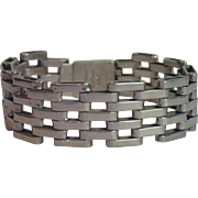 Mexican Sterling Bracelet With Maker's Mark