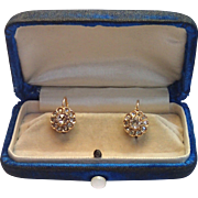 Antique Rose-Cut Diamond Earrings In 14k