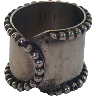 Antique Archers' Sterling Thumb Ring By Gorham