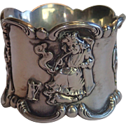 Sterling Silver Napkin Ring By Gorham ' Old King Cole ' . C. 1890